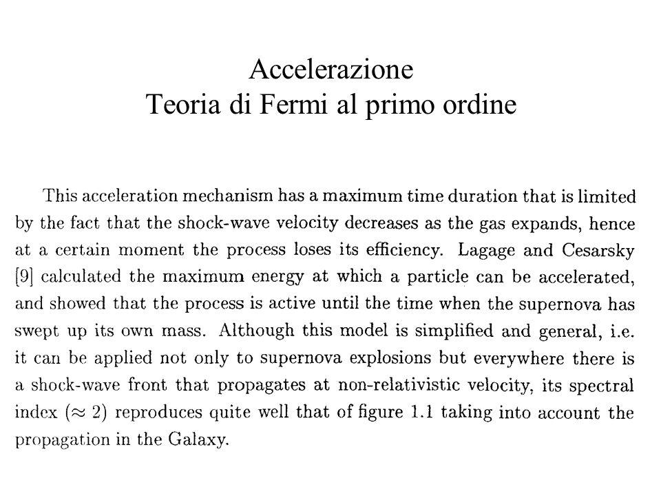 Accelerazione Teoria di Fermi al primo ordine