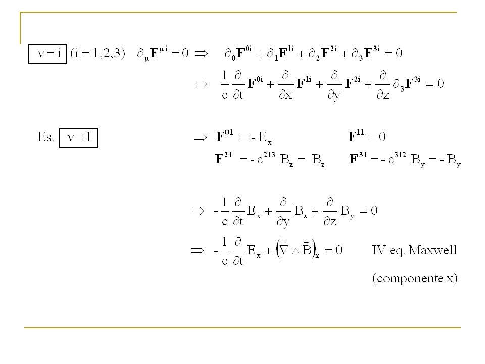 Definiamo ora F, il tensore duale del campo La II e la III eq.