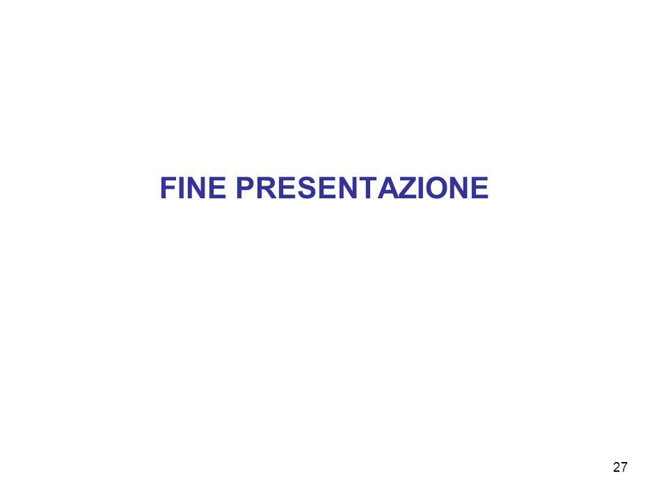 27 FINE PRESENTAZIONE
