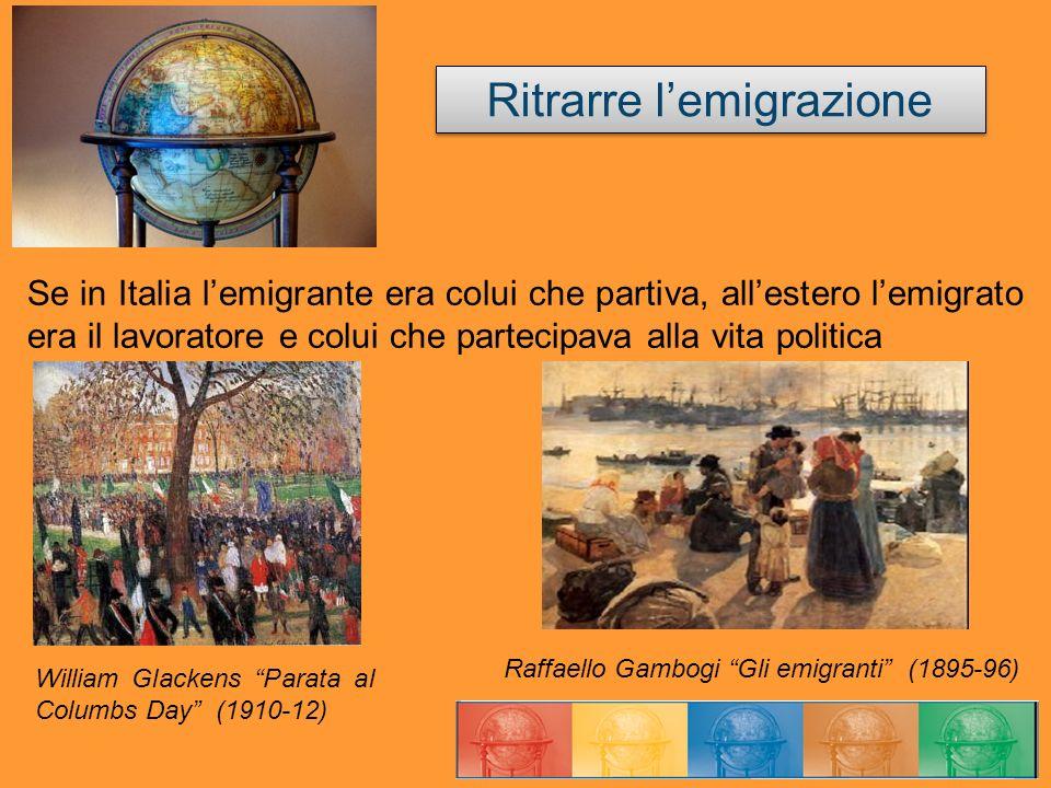 Se in Italia lemigrante era colui che partiva, allestero lemigrato era il lavoratore e colui che partecipava alla vita politica Ritrarre lemigrazione