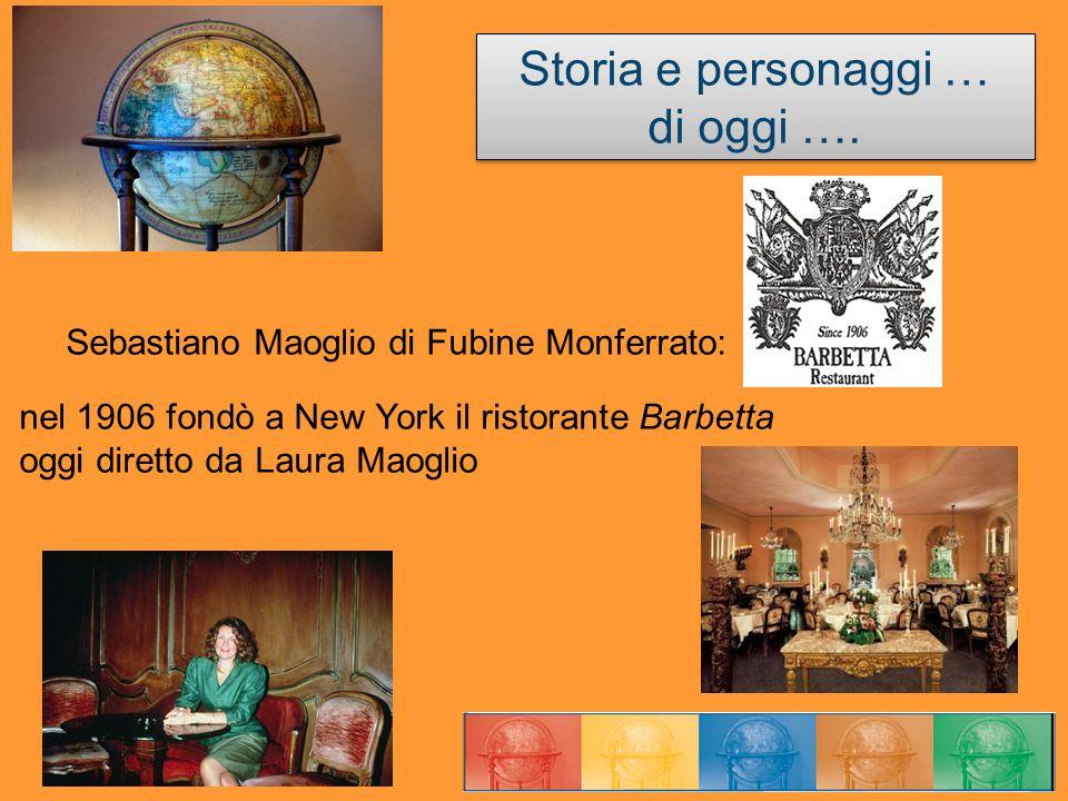 Storia e personaggi … di oggi …. Storia e personaggi … di oggi …. Sebastiano Maoglio di Fubine Monferrato: nel 1906 fondò a New York il ristorante Bar