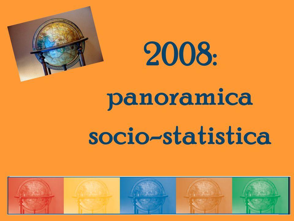 2008: panoramica socio-statistica