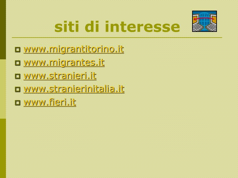 siti di interesse www.migrantitorino.it www.migrantitorino.it www.migrantitorino.it www.migrantes.it www.migrantes.it www.migrantes.it www.stranieri.it www.stranieri.it www.stranieri.it www.stranierinitalia.it www.stranierinitalia.it www.stranierinitalia.it www.fieri.it www.fieri.it www.fieri.it