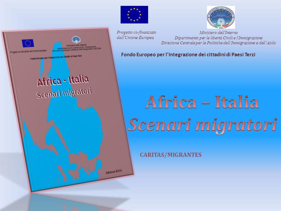 Progetto co-finanziato dall'Unione Europea Ministero dell'Interno Dipartimento per le libertà Civili e l'Immigrazione Direzione Centrale per le Politi
