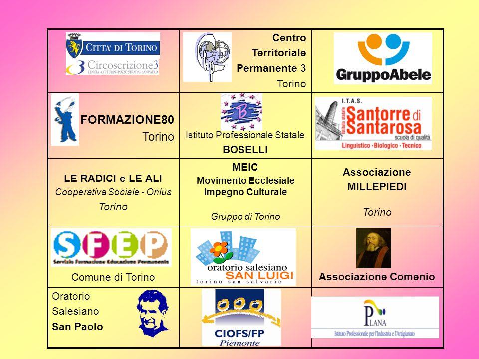 Oratorio Salesiano San Paolo Associazione Comenio Comune di Torino Associazione MILLEPIEDI Torino MEIC Movimento Ecclesiale Impegno Culturale Gruppo d