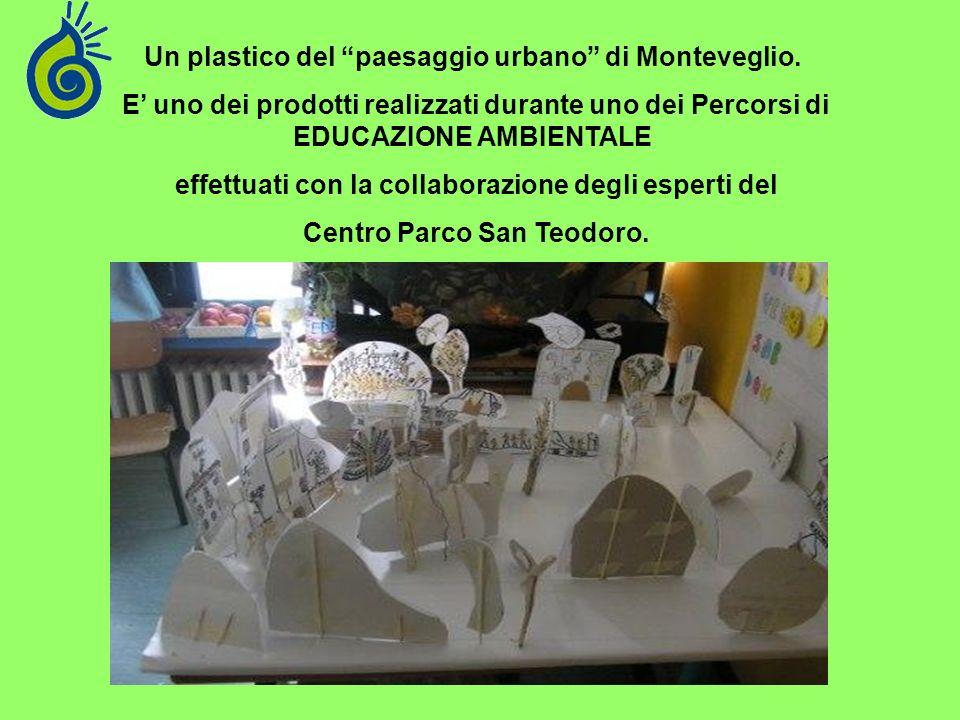 Un plastico del paesaggio urbano di Monteveglio. E uno dei prodotti realizzati durante uno dei Percorsi di EDUCAZIONE AMBIENTALE effettuati con la col