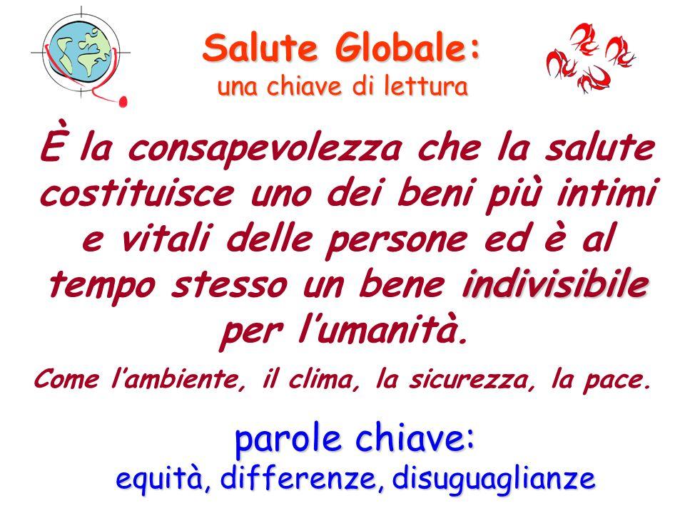 Salute Globale: una chiave di lettura Osservatorio Italiano Salute Globale Società Italiana di Medicina delle Migrazioni indivisibile È la consapevole