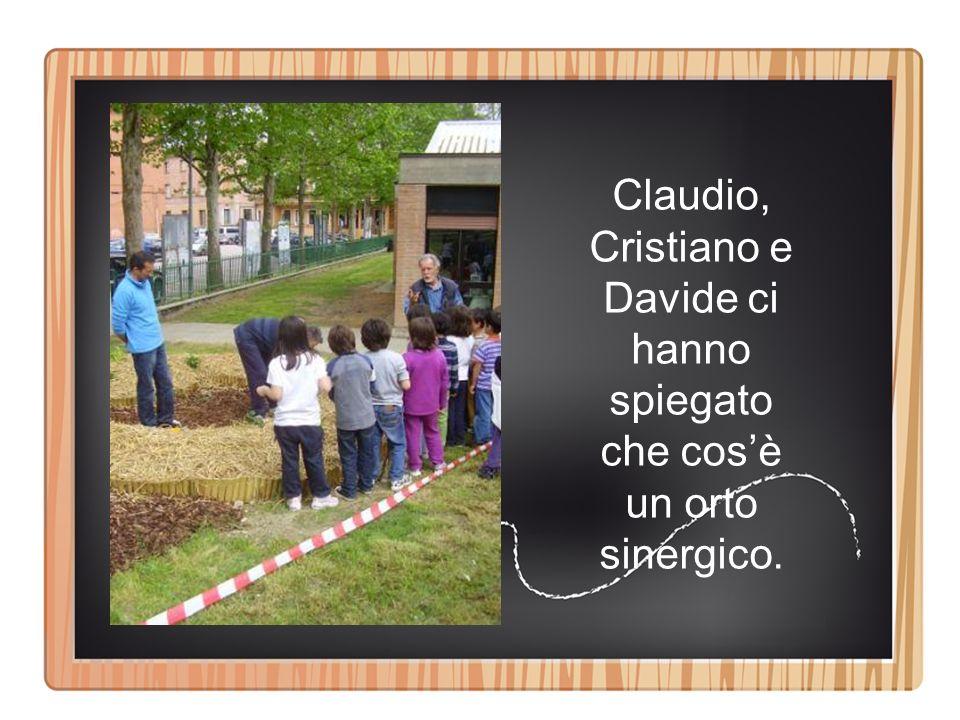 Claudio, Cristiano e Davide ci hanno spiegato che cosè un orto sinergico.