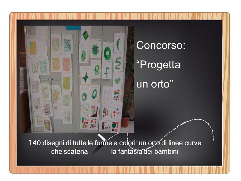 Concorso: Progetta un orto 140 disegni di tutte le forme e colori: un orto di linee curve che scatena la fantasia dei bambini
