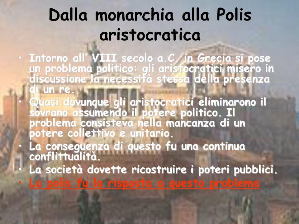 La Polis comunità di cittadini La formazione della Polis è una radicale novità nel panorama politico e sociale del Mediterraneo.