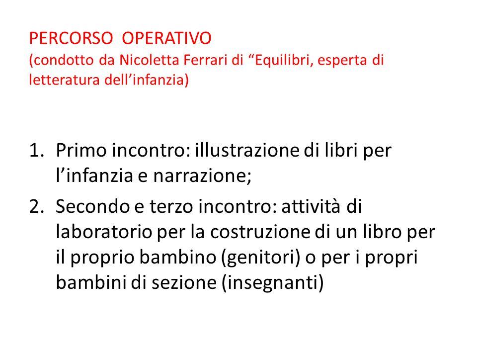 1° INCONTRO Nicoletta ci illustra, descrive, racconta diversi libri per i bambini