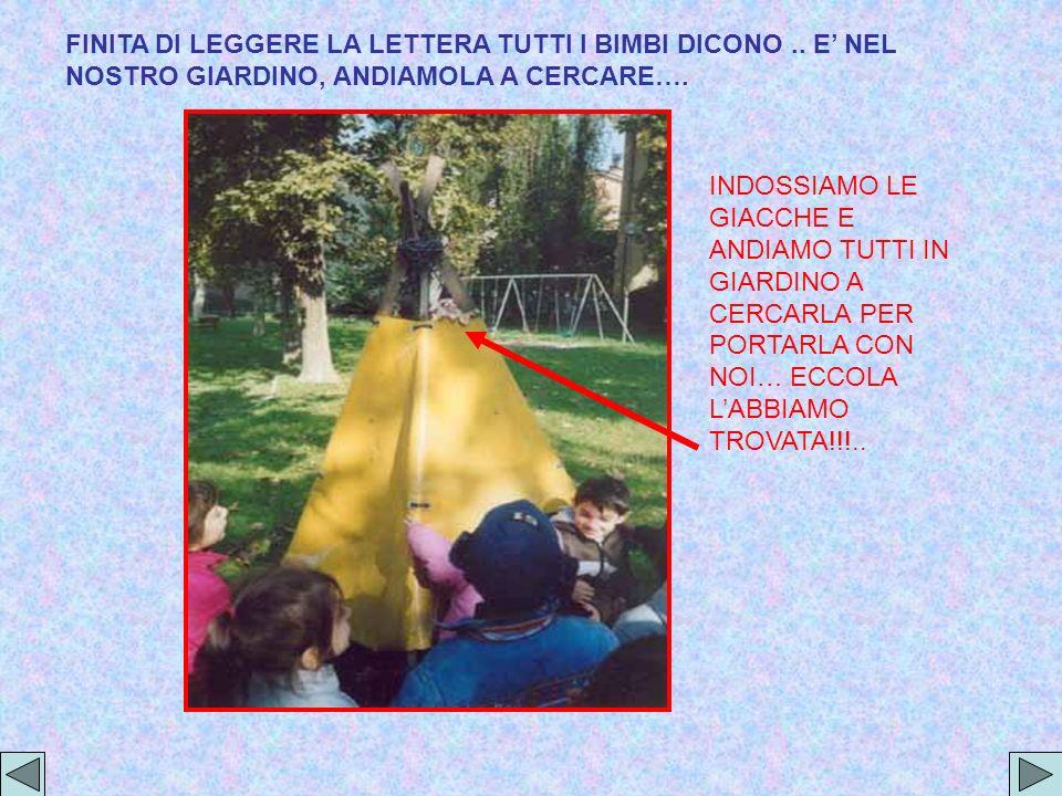 FINITA DI LEGGERE LA LETTERA TUTTI I BIMBI DICONO..