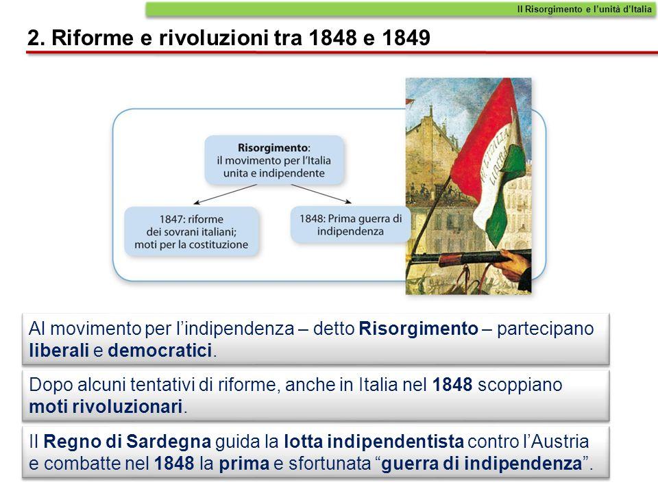 I patrioti italiani sono convinti che lItalia, per risorgere, debba diventare un Paese unito, non più diviso in piccoli Stati, e indipendente dalle potenze straniere.