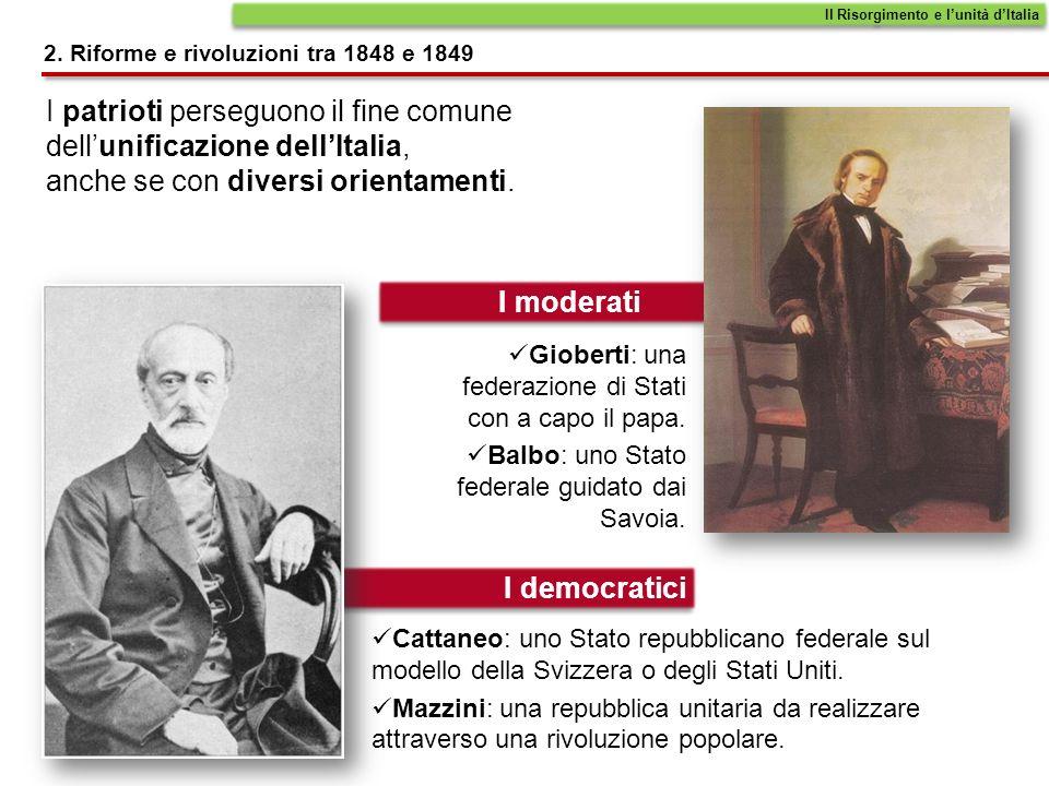 Nello Stato della Chiesa papa Pio IX, appena eletto nel 1846, concede alcune moderate riforme.