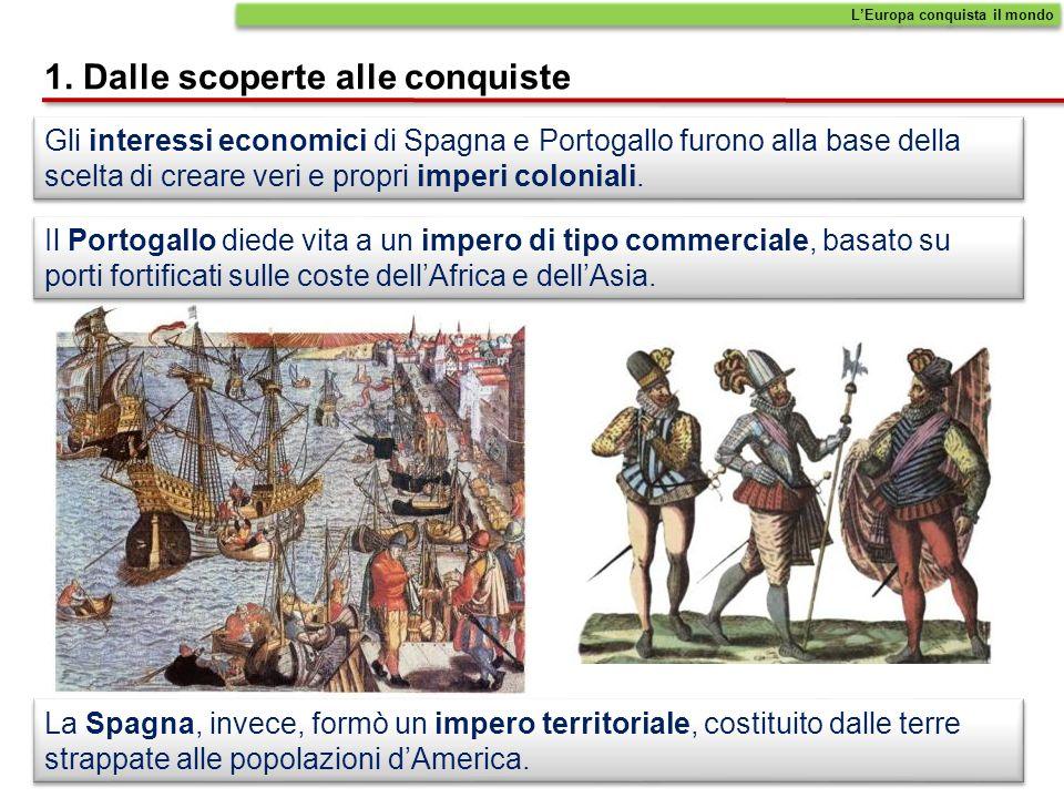 Gli interessi economici di Spagna e Portogallo furono alla base della scelta di creare veri e propri imperi coloniali.