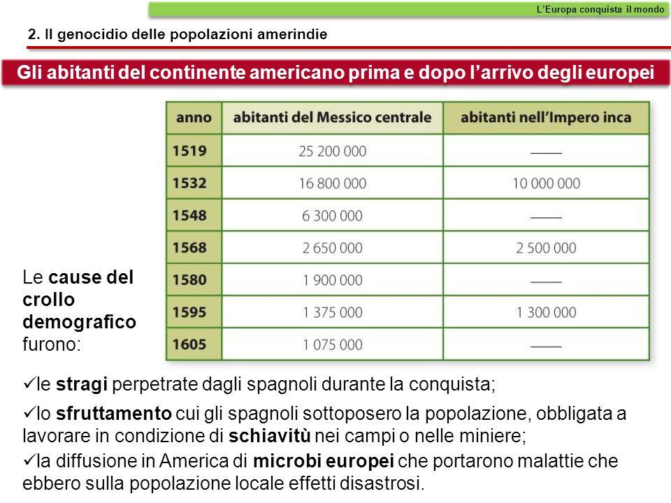 la diffusione in America di microbi europei che portarono malattie che ebbero sulla popolazione locale effetti disastrosi.