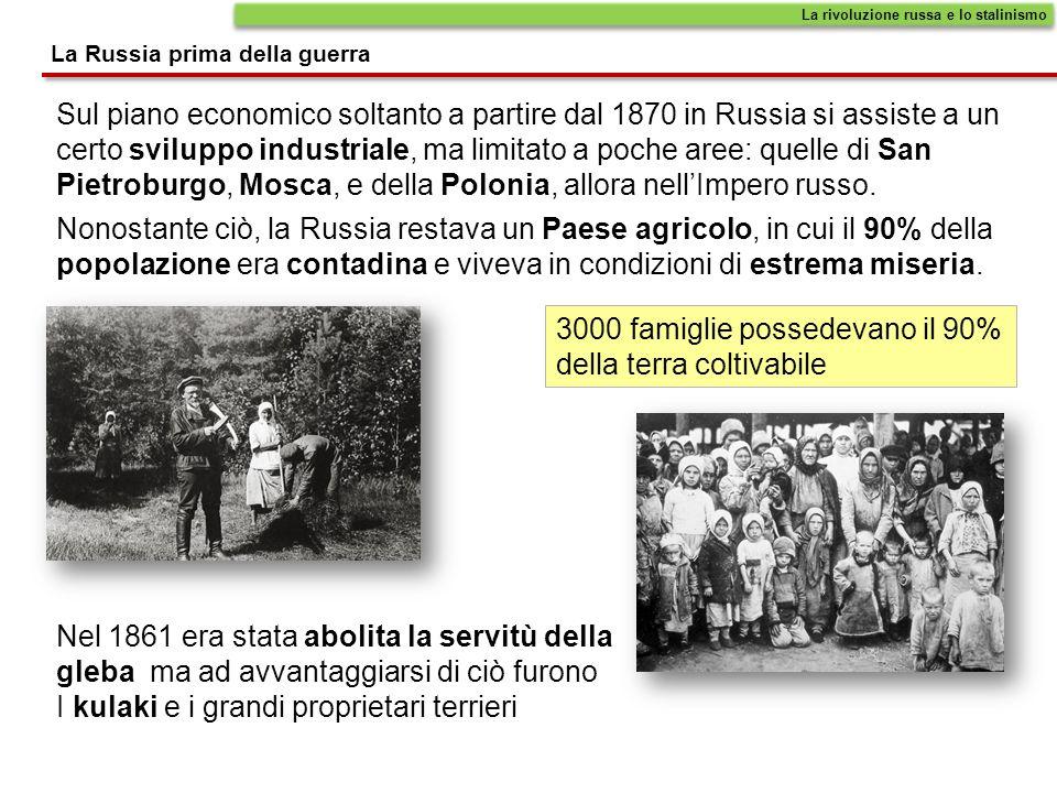 I Piani Quinquennali La rivoluzione russa e lo stalinismo Abolizione della NEP nel 1928 e reintroduzione della collettivizzazione: le campagne furono nuovamente investite da pesanti carestie e milioni furono i morti per fame.