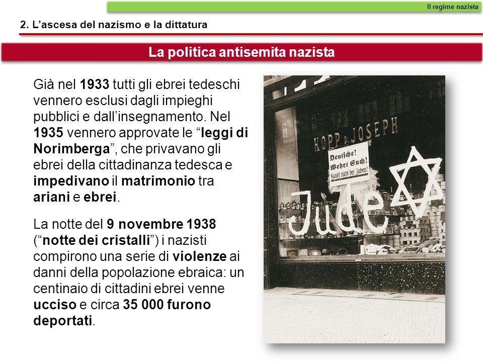 Già nel 1933 tutti gli ebrei tedeschi vennero esclusi dagli impieghi pubblici e dallinsegnamento.
