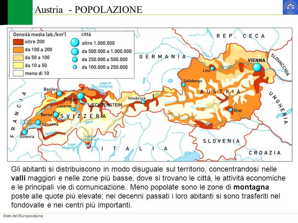 Stati dellEuropa alpina Austria - STORIA Abitati da popolazioni illiriche, celtiche e danubiane, i territori austriaci furono conquistati dai Romani alla fine del 1°secolo a.C.