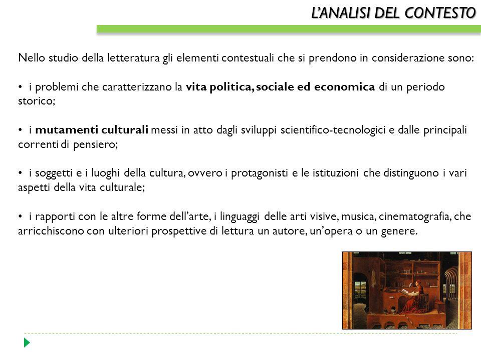 LANALISI DEL CONTESTO Il termine contesto deriva dal latino contextu(m), participio passato di contexere, intessere, e indica il complesso intreccio d