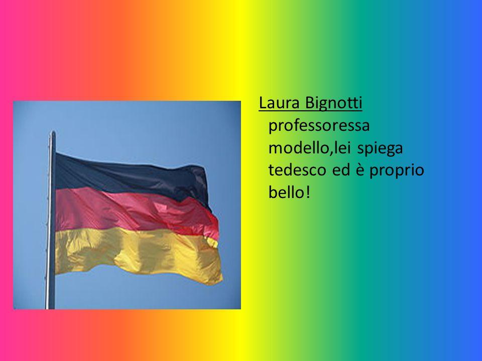 Luisa Feroldi questo è il suo nome, è una grande cantante e di inglese insegnante.