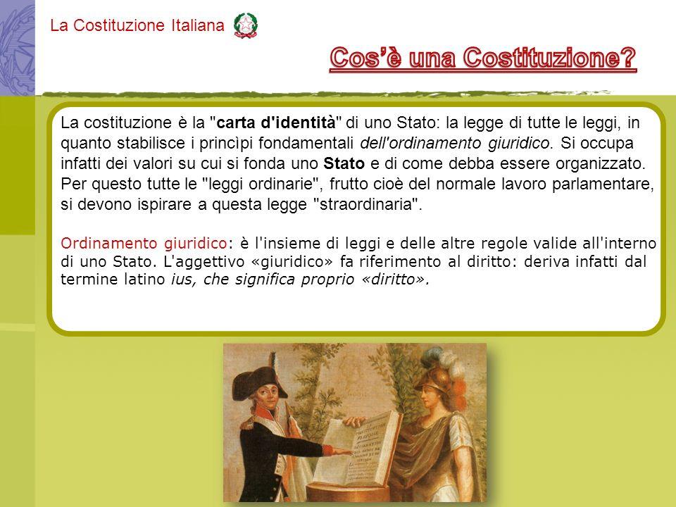 La Costituzione Italiana La costituzione è la