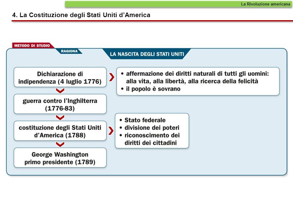 4. La Costituzione degli Stati Uniti dAmerica La Rivoluzione americana
