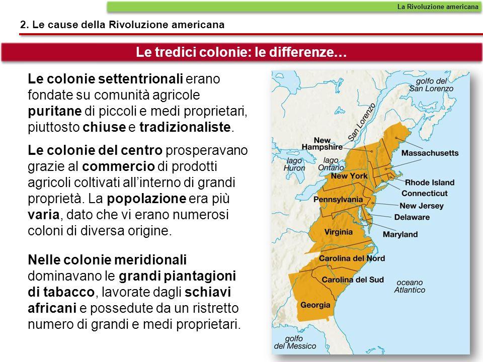 Le colonie settentrionali erano fondate su comunità agricole puritane di piccoli e medi proprietari, piuttosto chiuse e tradizionaliste. Le colonie de