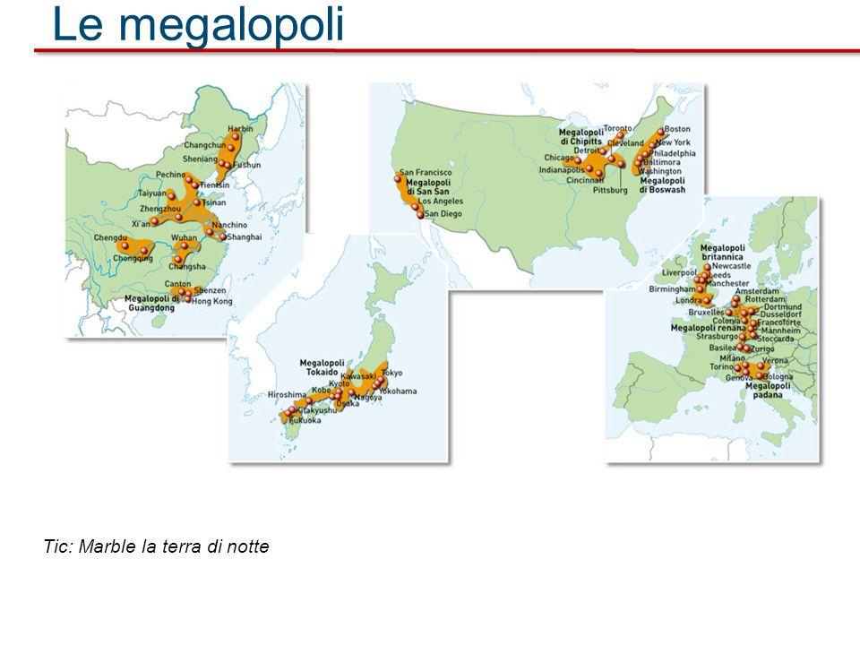 Le megalopoli Tic: Marble la terra di notte