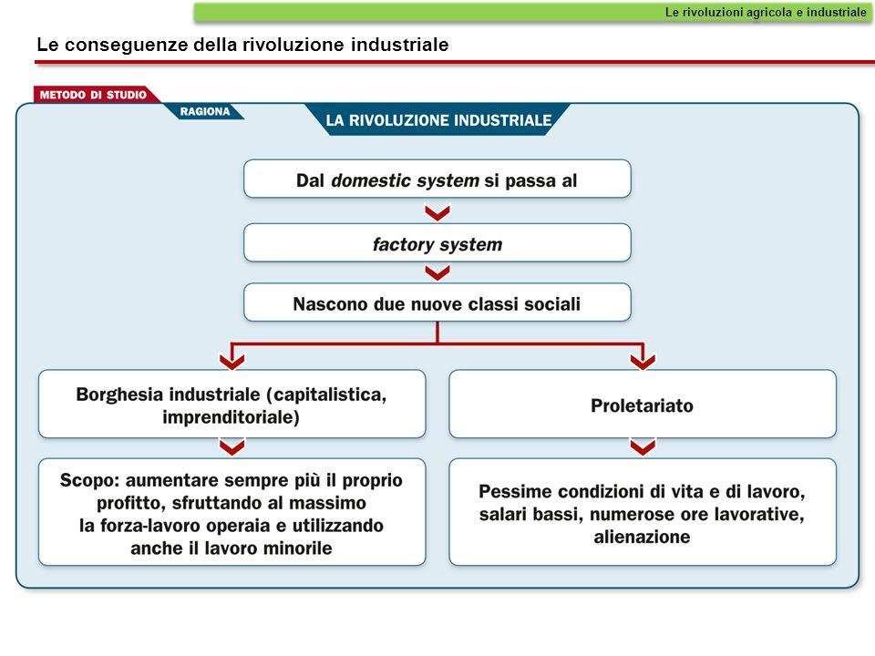 Le rivoluzioni agricola e industriale Le conseguenze della rivoluzione industriale