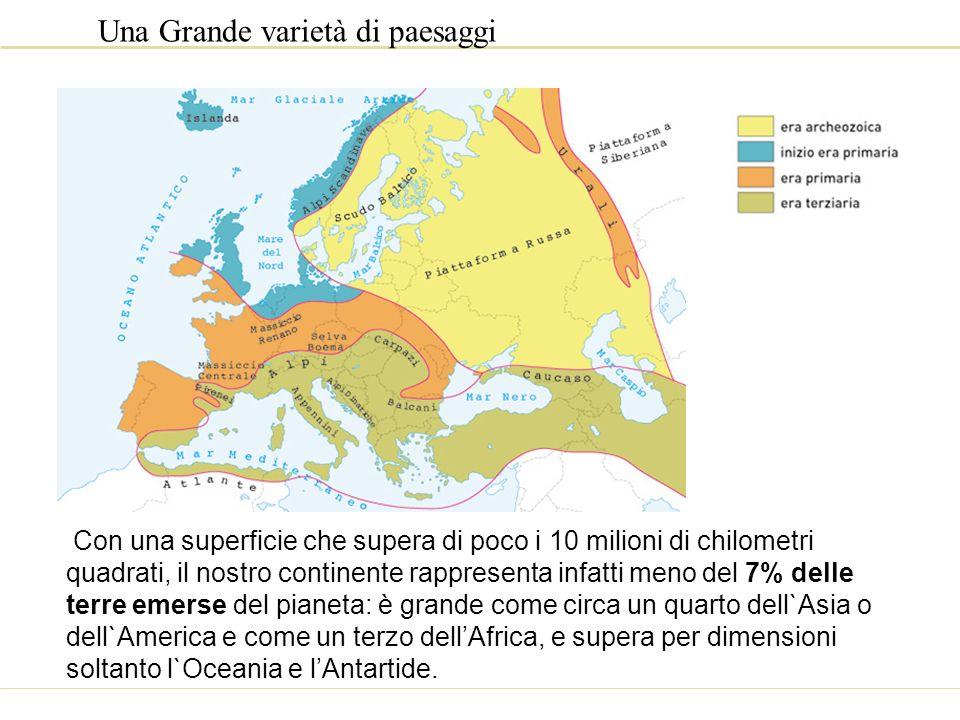Con una superficie che supera di poco i 10 milioni di chilometri quadrati, il nostro continente rappresenta infatti meno del 7% delle terre emerse del