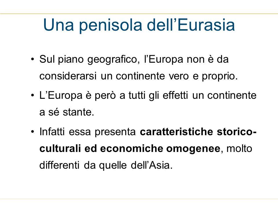 Sul piano geografico, lEuropa non è da considerarsi un continente vero e proprio. LEuropa è però a tutti gli effetti un continente a sé stante. Infatt
