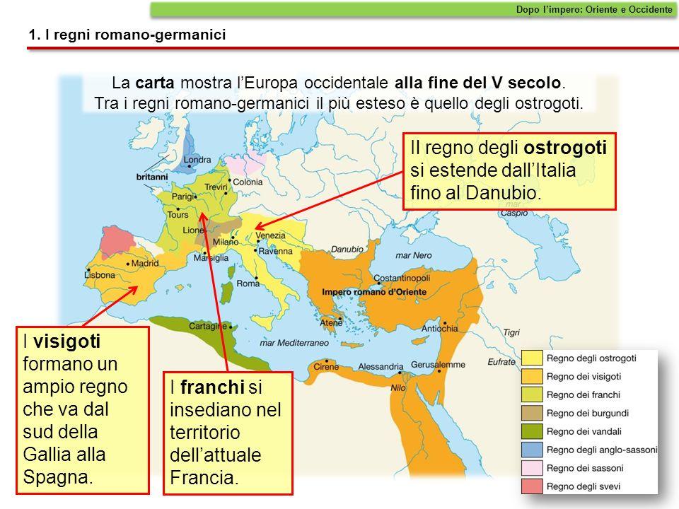 La carta mostra lEuropa occidentale alla fine del V secolo.