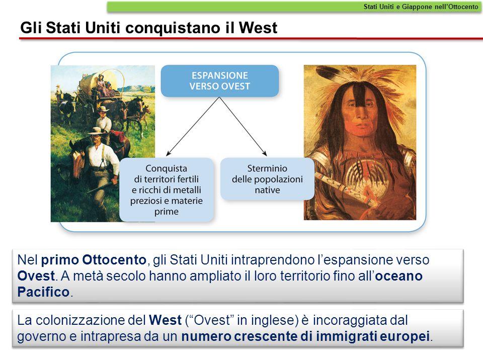 La popolazione inizia a espandersi verso occidente, ossia il Grande West, colonizzando regioni in parte controllate dallex colonia spagnola del Messico e abitate dai nativi.
