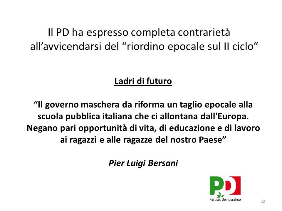 Ladri di futuro Il governo maschera da riforma un taglio epocale alla scuola pubblica italiana che ci allontana dall Europa.