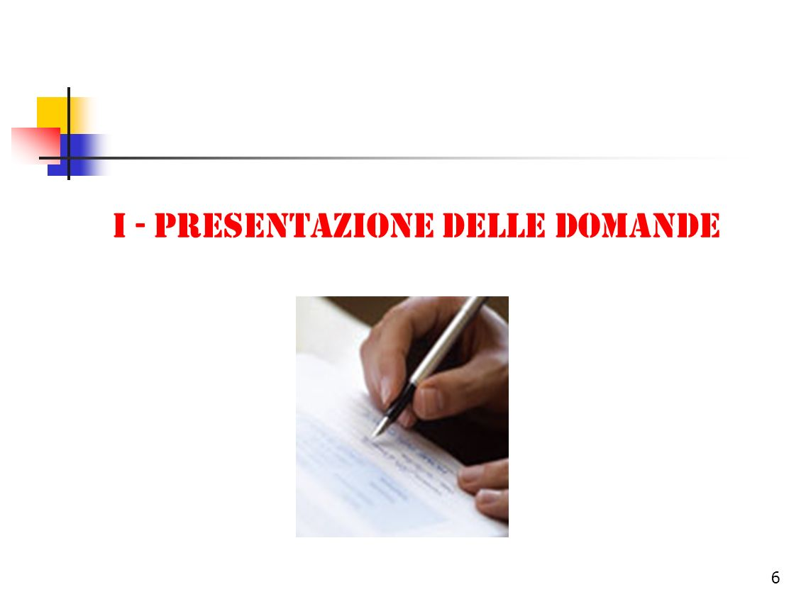 7 Presentazione della domanda (1/3) La domanda va presentata entro il 30 novembre 2006, allegando ricevuta del pagamento della tassa scolastica.