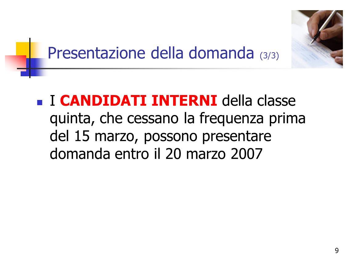 10 II - PROCEDURE DI AMMISSIONE