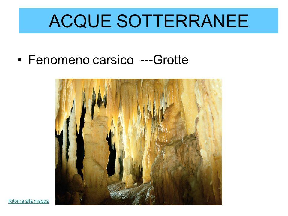 ACQUE SOTTERRANEE Fenomeno carsico ---Grotte Ritorna alla mappa