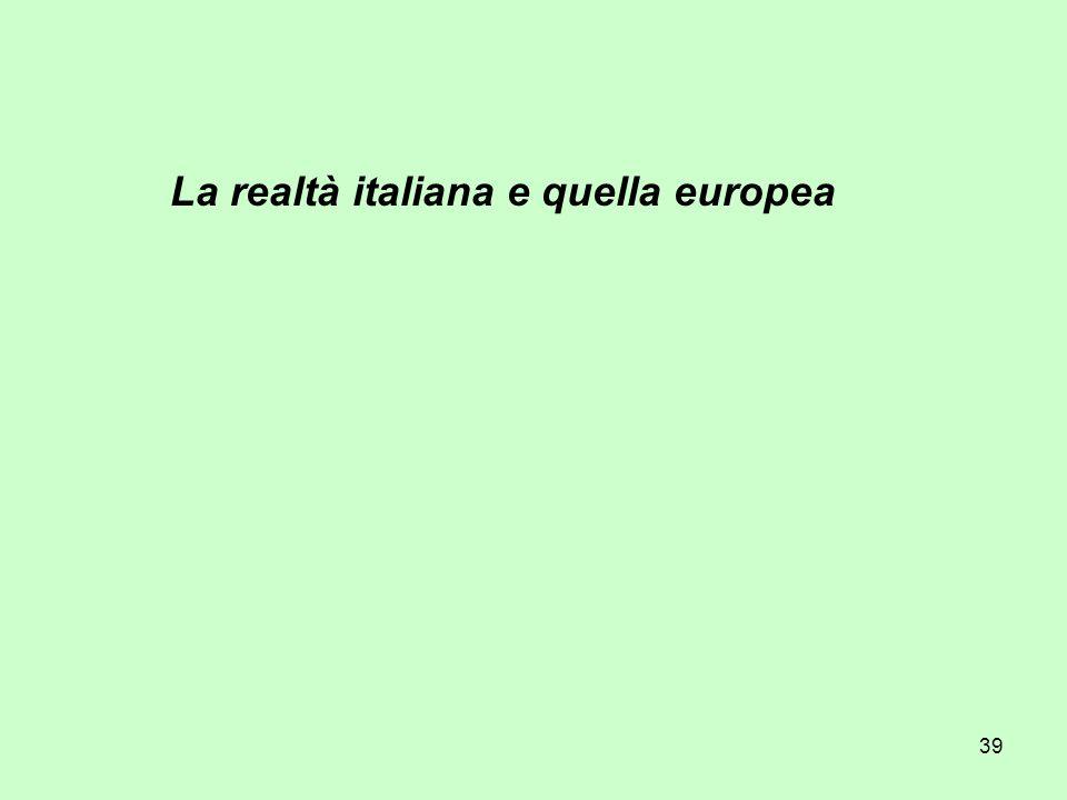 39 La realtà italiana e quella europea