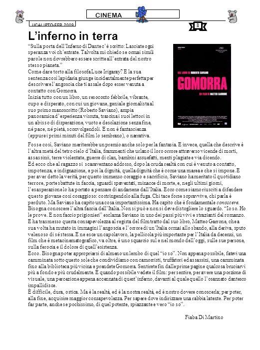 CINEMA – sezione fantascienza UCALIPTO-FEB.2009 I protagonisti sono Marty McFly(interpretato da Michael J.