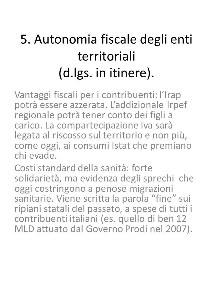 5. Autonomia fiscale degli enti territoriali (d.lgs.
