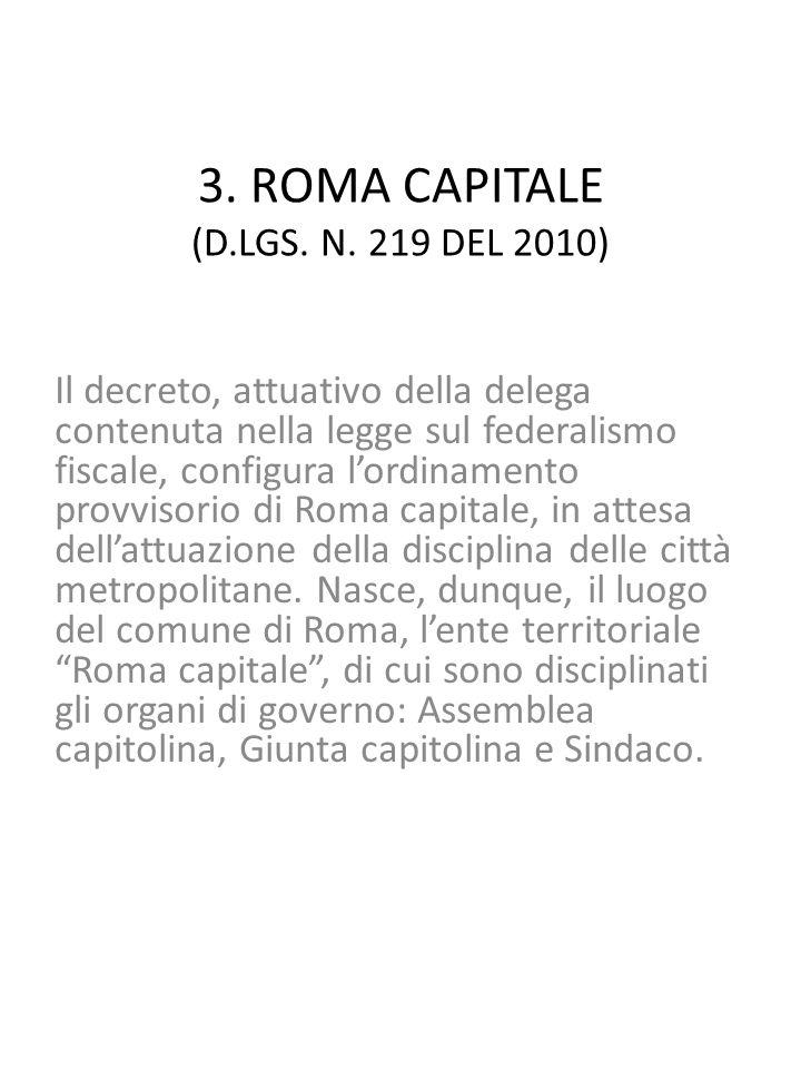 3. ROMA CAPITALE (D.LGS. N.