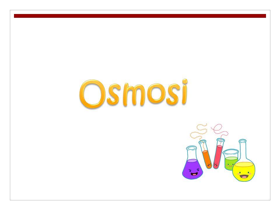 Losmosi è un processo che consiste nel passaggio delle molecole del solvente da una soluzione più diluita ad una più concentrata quando tra esse è posta una particolare membrana, detta membrana semipermeabile, capace di lasciarsi attraversare solo dalle molecole del sovente e non da quelle del soluto.