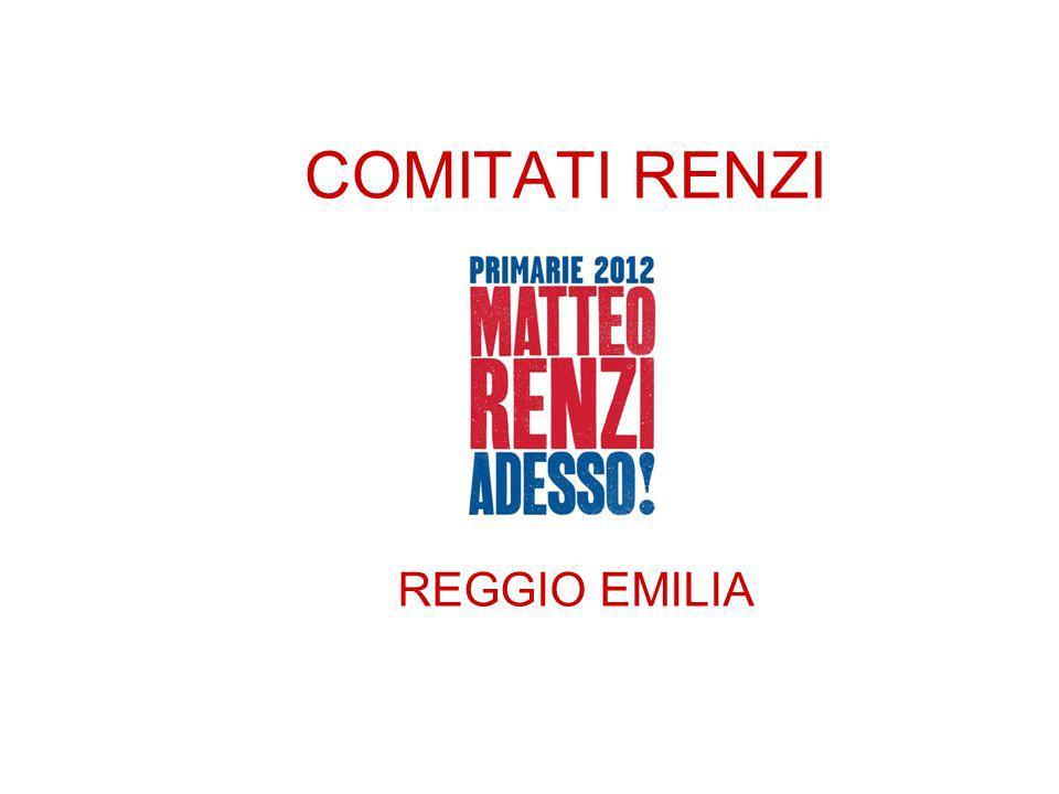 COMITATI RENZI REGGIO EMILIA