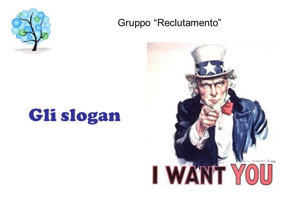 Gli slogan Gruppo Reclutamento