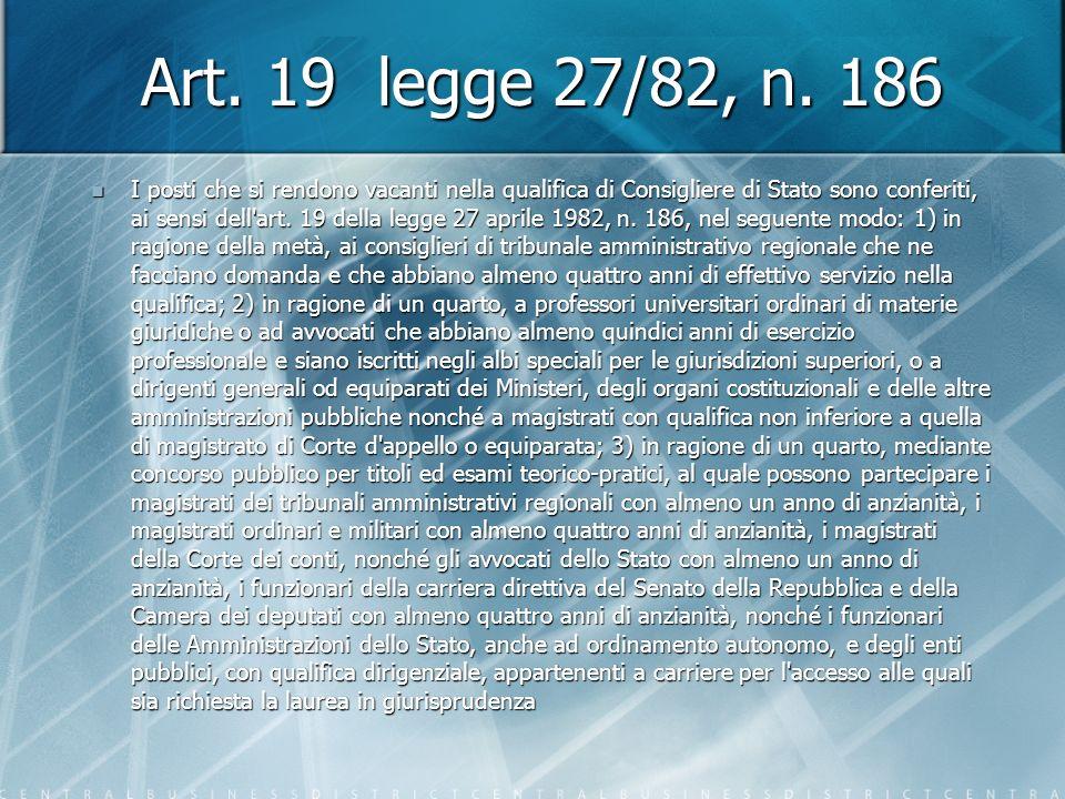 Art. 19 legge 27/82, n.
