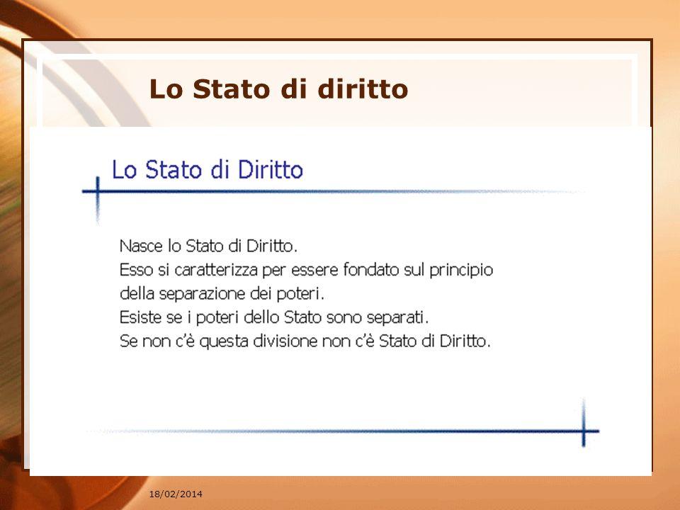 18/02/2014 Lo Stato di diritto