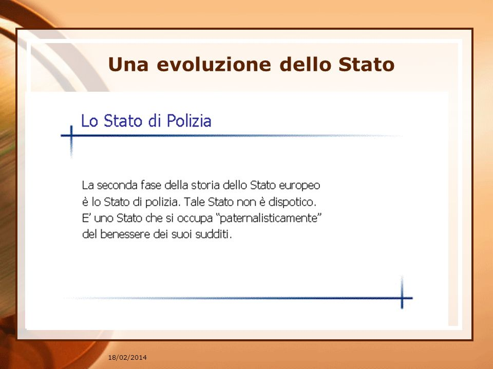 18/02/2014 Una evoluzione dello Stato