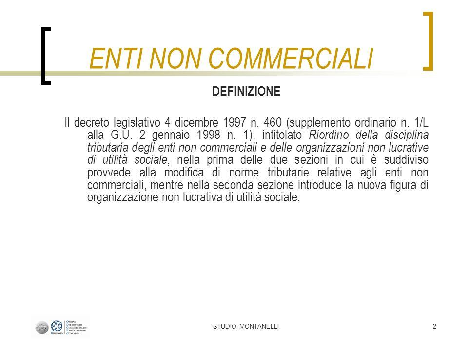 STUDIO MONTANELLI23 Tipologie di attività Tipo di EnteRifer.