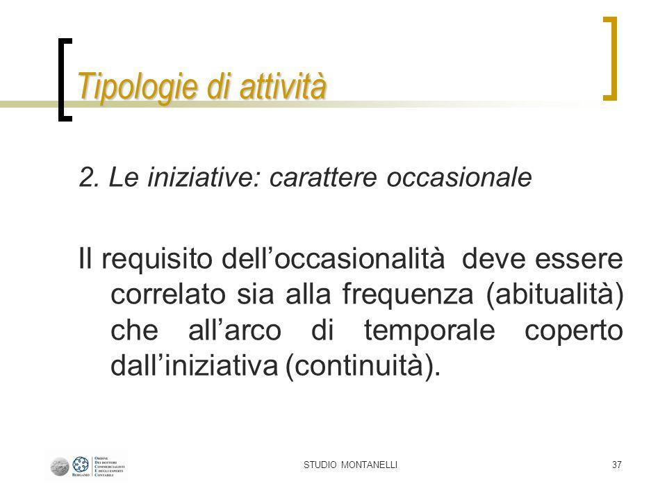 STUDIO MONTANELLI37 Tipologie di attività 2.